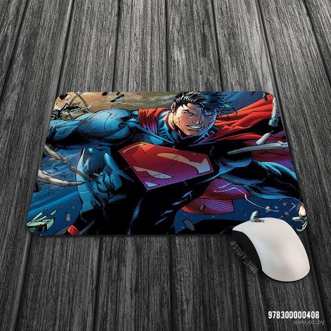 """Коврик для мыши большой """"Супермен"""" (арт. 408)"""