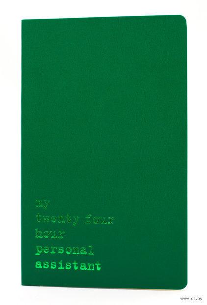 """Записная книжка Молескин """"Volant. My Twenty Four Hour"""" в линейку (большая; мягкая темно-зеленая обложка)"""