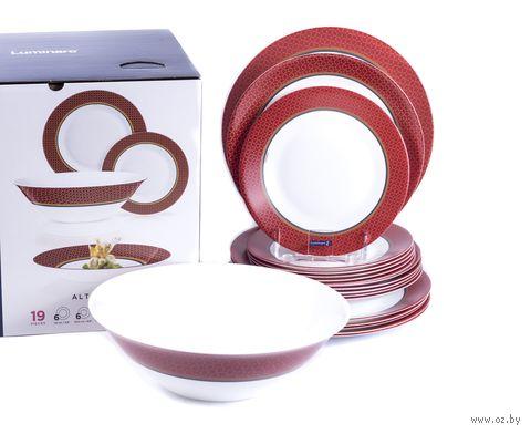 """Набор тарелок """"Alto Rubis"""" (19 шт.) — фото, картинка"""