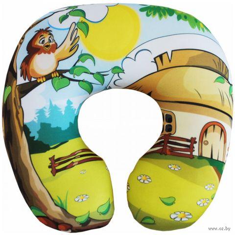 """Подушка под шею """"Детская"""" (29х29 см; жёлтая) — фото, картинка"""