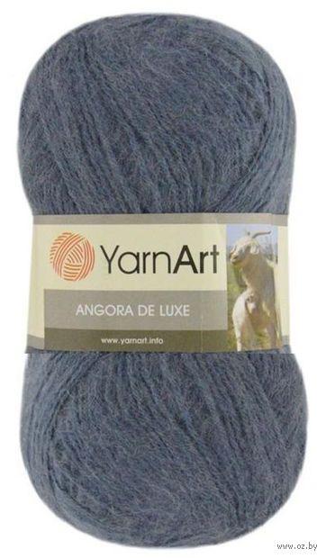 """Пряжа """"YarnArt. Angora de Luxe №3864"""" (100 г; 520 м; тёмно-серый) — фото, картинка"""