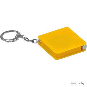 Брелок-рулетка (желтый, 1 метр) — фото, картинка