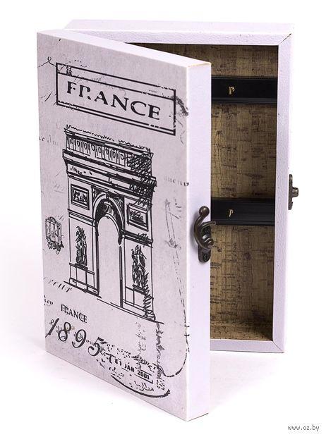 Ящик для ключей деревянный настенный (25,5х18,5х6,5 см; арт. 7790122)