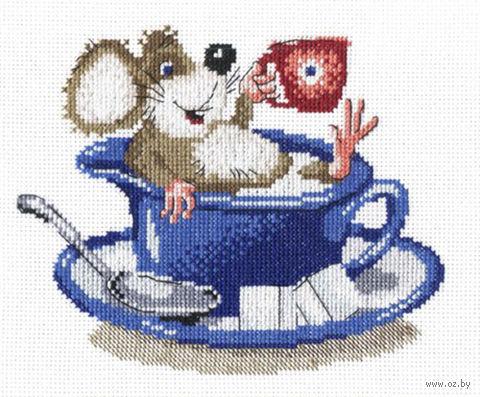 """Вышивка крестом """"Мышка в чашке"""""""