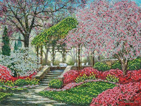 """Канва с нанесенным рисунком """"Японский сад"""""""