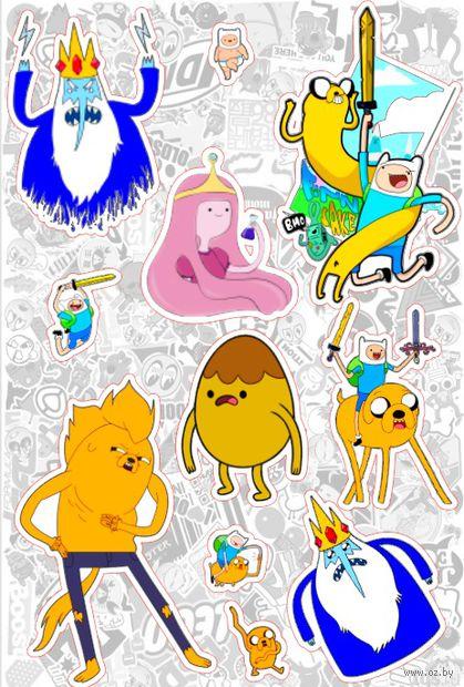 "Набор глянцевых наклеек ""Adventure Time №3"" — фото, картинка"