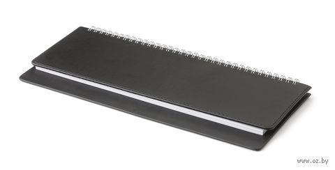 """Планинг недатированный """"Velvet"""" (305х130 мм; черный) — фото, картинка"""