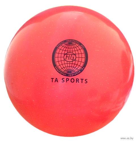 Мяч для художественной гимнастики (коралловый с блестками) — фото, картинка