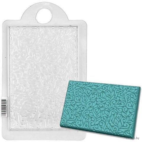 """Форма для изготовления мыла """"Текстурный лист. Узор с завитками"""" — фото, картинка"""