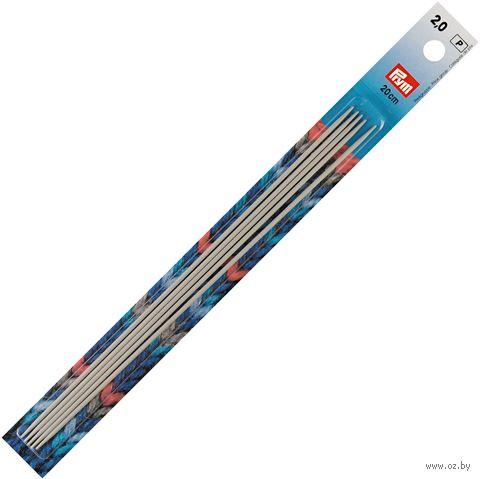 Спицы чулочные для вязания (алюминий; 2 мм; 20 см) — фото, картинка