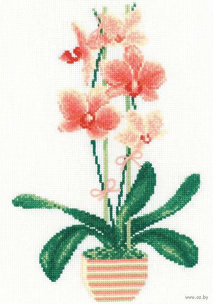 """Вышивка крестом """"Желтая орхидея"""" (арт. 1161)"""