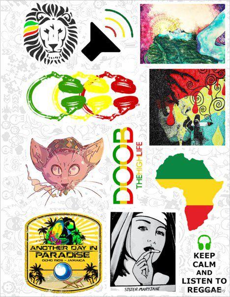 "Набор виниловых наклеек №37 ""Reggae"" — фото, картинка"