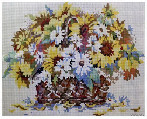"""Алмазная вышивка-мозаика """"Букет полевых цветов"""" (400x500 мм) — фото, картинка"""