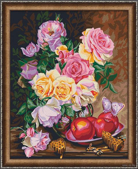 """Картина по номерам """"Розы и мед"""" (400х500 мм) — фото, картинка"""