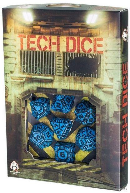 """Набор кубиков """"Tech"""" (7 шт.; сине-черный) — фото, картинка"""