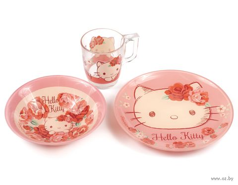 "Набор для завтрака ""Hello Kitty"" (3 предмета; арт. J7962) — фото, картинка"