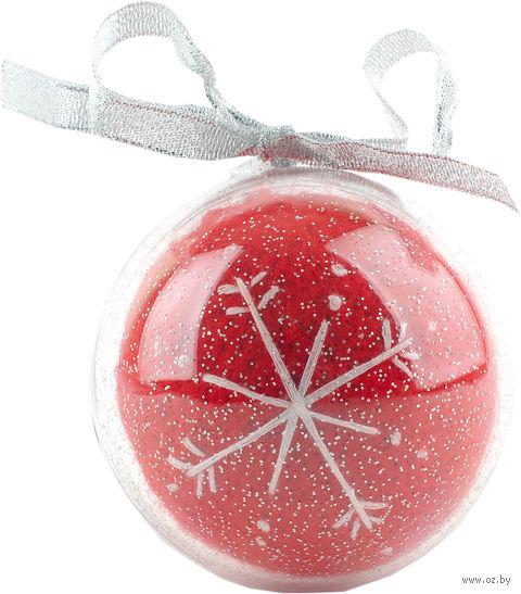 Новогодний шар в футляре (красный)