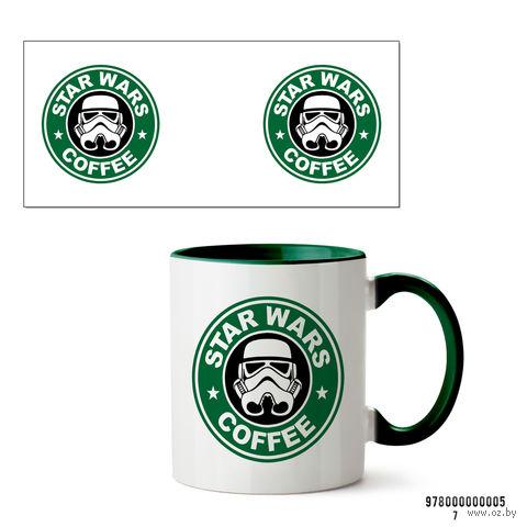 """Кружка """"Звездные войны. Star wars coffee"""" (зеленая) — фото, картинка"""