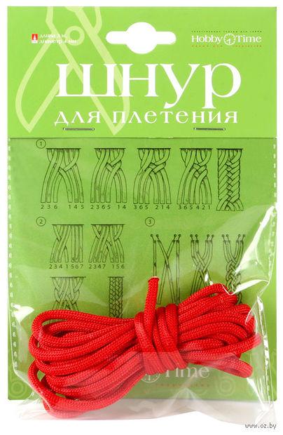Шнур для плетения (3 м; алый) — фото, картинка