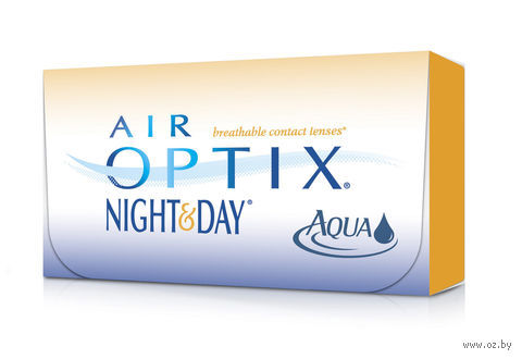 "Контактные линзы ""Air Optix Night and Day Aqua"" (1 линза; -1,0 дптр) — фото, картинка"