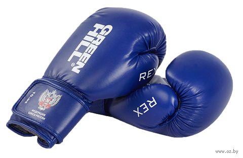 Перчатки боксерские REX BGR-2272 (12 унций; синие) — фото, картинка
