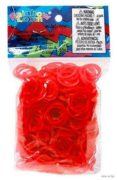 """Набор резиночек для плетения """"Rainbow Loom. Гелевый красный"""""""