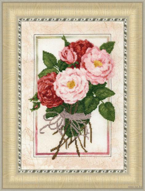 """Вышивка крестом """"Винтажные розы"""" (350x241 мм) — фото, картинка"""