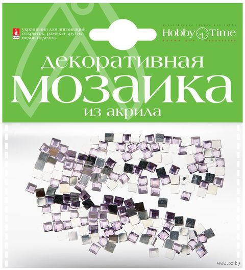 Мозаика декоративная из акрила №11 (4х4 мм; 200 шт.; сиреневый) — фото, картинка