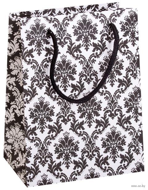 """Пакет бумажный подарочный """"Узор"""" (18х23х8 см) — фото, картинка"""