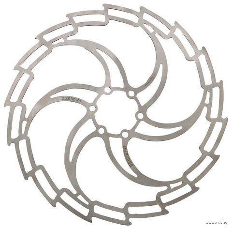 """Тормозной диск велосипедный """"DB-05D"""" (160 мм; белый) — фото, картинка"""