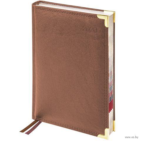 """Ежедневник датированный """"Delucci"""" (А5; коричневый; 2020) — фото, картинка"""