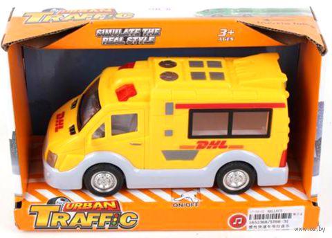 """Машинка """"Служба доставки DHL"""" (со звуковыми и световыми эффектами) — фото, картинка"""
