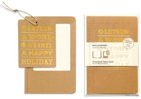 """Набор для письма Молескин """"Ornament Card Holiday"""" (большой; мягкая бежевая обложка)"""