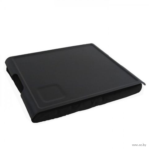 """Подставка с пластиковым подносом """"Laptray"""" (черная)"""