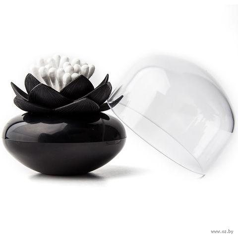 """Контейнер для ватных палочек """"Lotus"""" (черный)"""