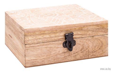 Шкатулка деревянная (100х150х68 мм; арт. A44310120) — фото, картинка
