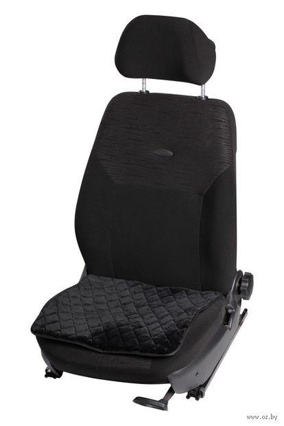Накидка-подушка из искусственного меха на сиденье (чёрная; арт. AFC-A-02) — фото, картинка