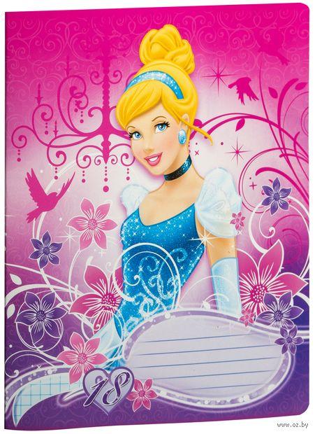 """Тетрадь в клетку """"Princess"""" 18 листов (арт. D3128/5)"""