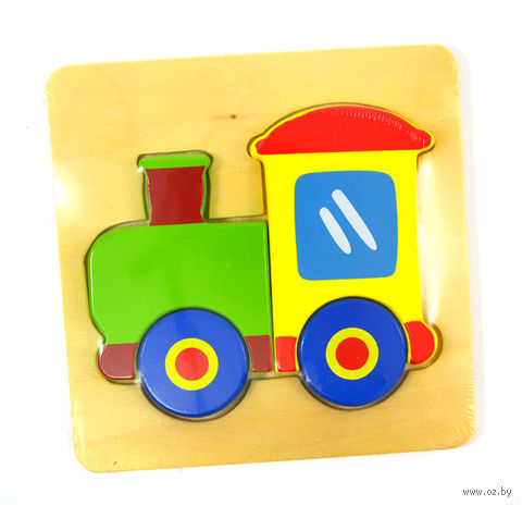 """Рамка-вкладыш """"Поезд"""""""
