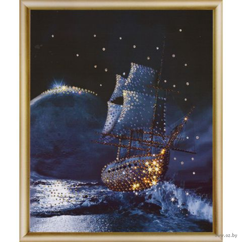 """Алмазная вышивка-мозаика """"Корабль"""""""