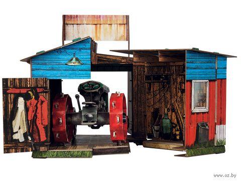 """Сборная модель из картона """"Трактор и гараж"""" — фото, картинка"""
