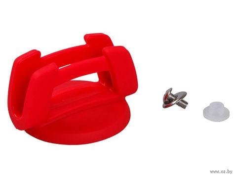 Ручка к стеклянной крышке силиконовая (красная; арт. 25-030311) — фото, картинка