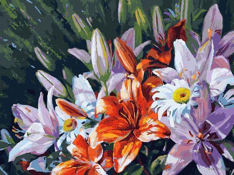 """Картина по номерам """"Лилии из сада"""" (300х400 мм) — фото, картинка"""
