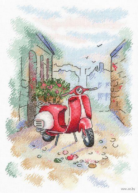 """Вышивка крестом """"Итальянский дворик"""" (250x180 мм) — фото, картинка"""