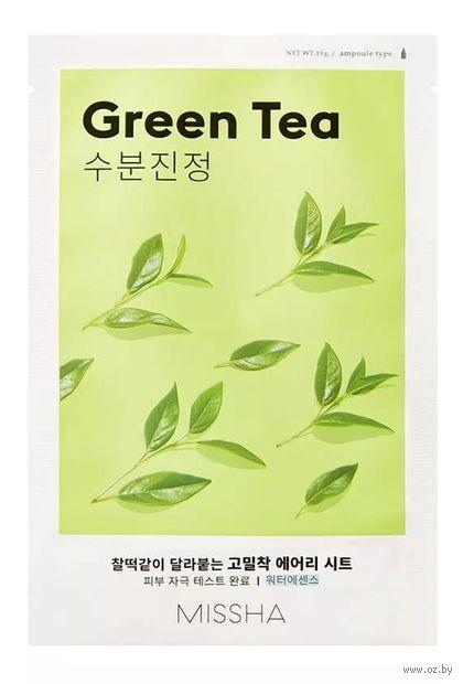 "Тканевая маска для лица ""Green Tea"" (19 г) — фото, картинка"