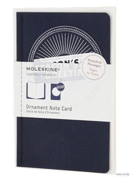 """Набор для письма Молескин """"Ornament Card Season"""" (карманный; мягкая синяя обложка)"""