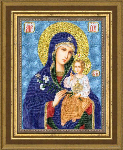 """Вышивка бисером """"Образ Божией Матери. Неувядаемый цвет"""""""