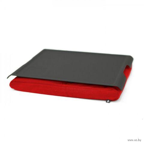 """Подставка с пластиковым подносом """"Laptray"""" (черная, красная)"""