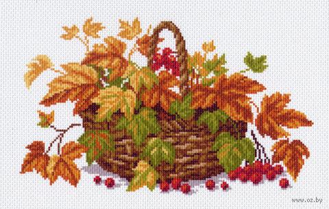 """Канва с нанесенным рисунком """"Осенние листья"""""""
