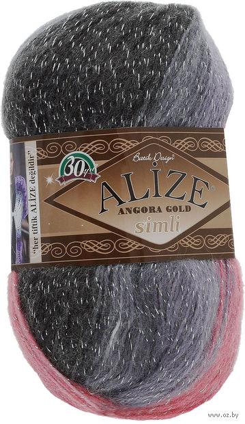 "Пряжа ""ALIZE. Angora Gold Batik Simli №1602"" (100 г; 500 м; секционный) — фото, картинка"